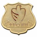 Изготовление нагрудных знаков - нагрудный знак ТРОЯН золото
