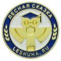 Позолоченный металлический значок для школы Лесная сказка с эмалями Эпола