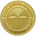Значок Банк Девон-Кредит с гальванизацией золотом