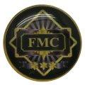 Круглый заливной значок FMC