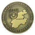 Памятная медаль АО ЧУКОТЭНЕРГО АНАДЫРСКАЯ ТЭЦ с античной латунью