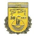Юбилейный значок АНАДЫРСКАЯ ТЭЦ 30 лет (золотистая матовая эмаль)